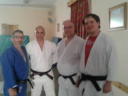 Visit by Sensei Jim Dart and his son James Dart